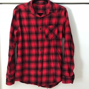 b5f9949e85400 ... Forever 21 Button Down Flannel American Eagle Super Soft Hoodie